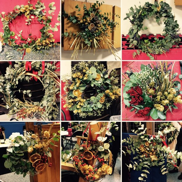 BPWI Christmas Wreath examples